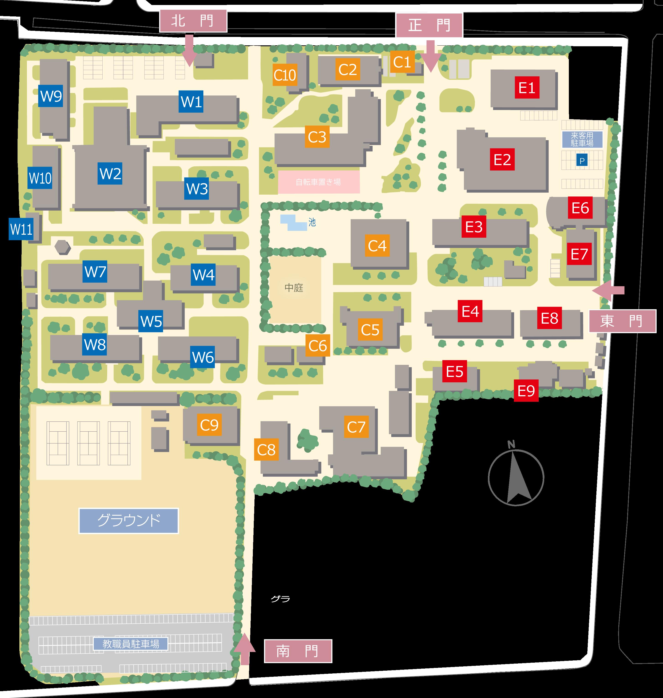 信大工学部地図